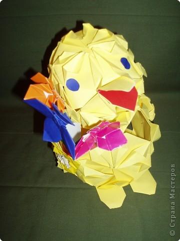 Оригами модульное: Кряша идет на День рождения фото 1