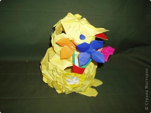 Оригами модульное: Кряша идет на День рождения фото 2
