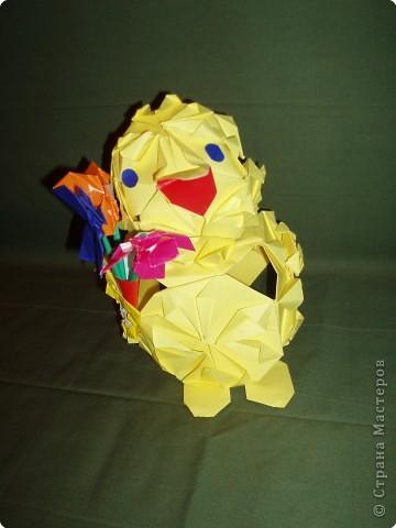 Оригами модульное: Кряша идет на День рождения фото 3