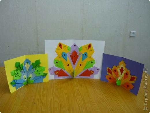 Оригами: Павлины фото 4