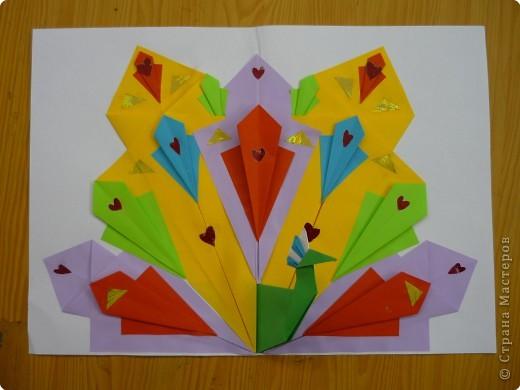 Оригами: Павлины фото 1