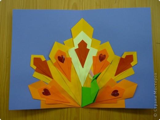 Оригами: Павлины фото 2
