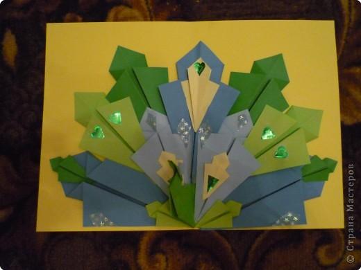 Оригами: Павлины фото 3
