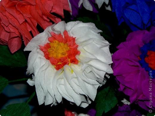 В детстве я часто любовалась цветами из гофрированной бумаги, которые стояли на комоде у моей бабушки. АХ! как хотелось сделать что-то похожее.  фото 2