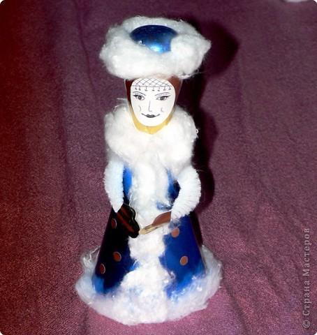 Вот такую мы изваяли ло ли Снегурку, то ли Снежную королеву. Елена Базарова, спасибо за идею отличную. Мы её развиваем на все 100%  Ребенок просто счастлив!!!! фото 2