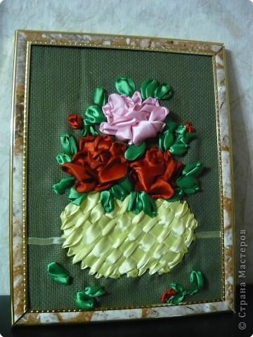 Вышивка: Опять розы (вышивка лентами) фото 2