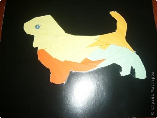 Удивительный цветной пес получился у нас с Уленькой в этой технике! фото 1