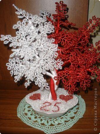 Поделка изделие Бисероплетение дерево любви Бисер фото 1.