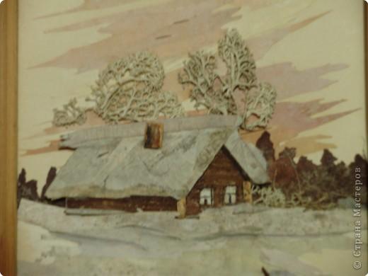 Аппликация: Зимний домик фото 2
