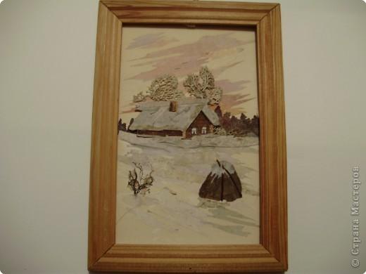 Аппликация: Зимний домик фото 1