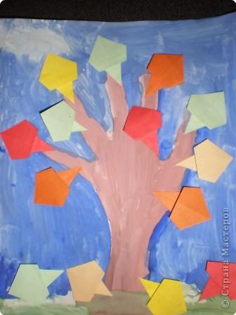 Оригами: Осенне деревце