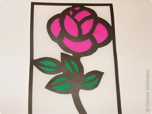 Витраж: Роза фото 2