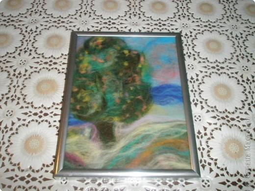 Картина панно рисунок Картины из шерсти Шерсть фото 3
