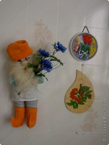 Домовёнок Кузя тип работы: оберег техника: мягкая игрушка событие: хорошее настроение материал: ткань, вата,мех, кружева, пуговицы, нить фото 1