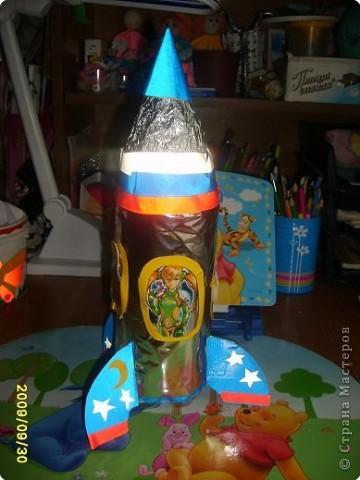 Как сделать ракету из бутылки в школу