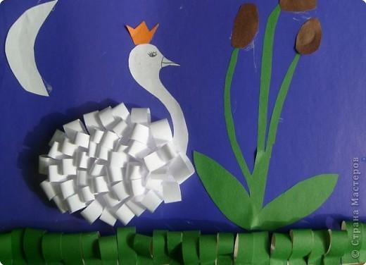 Поделка для 2 класса из бумаги и картона лебедь9