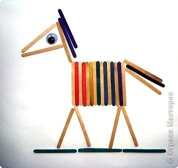 Набор палочек используем, как мозаику.  фото 2
