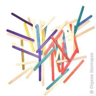 Набор палочек используем, как мозаику.  фото 1