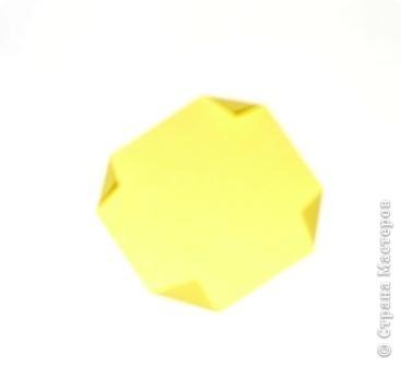 Для работы приготовьте шесть квадратов: со сторонами 15 см - 1, со сторонами 5 см - 1,  со сторонами 4 см - 2,  со сторонами 3 см - 2 фото 7
