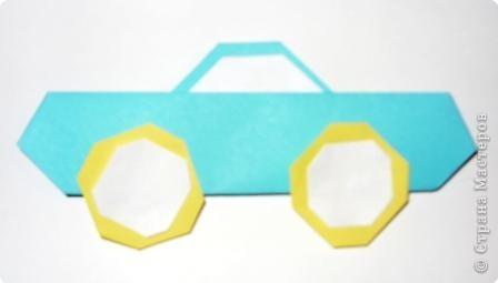 Для работы приготовьте шесть квадратов: со сторонами 15 см - 1, со сторонами 5 см - 1,  со сторонами 4 см - 2,  со сторонами 3 см - 2 фото 8