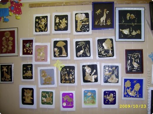 Аппликация: галерея поделок из соломки фото 1