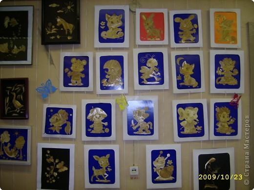 Аппликация: галерея поделок из соломки фото 2
