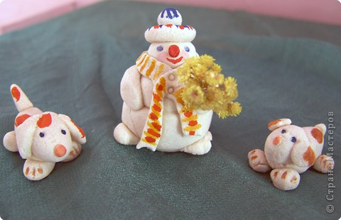Снеговик с друзьями.