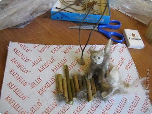 """Катюшка (моя ученица, 4 класс) решила для своего проекта по кошкам сделать поделку """"Два кота на прогулке"""", где показала внешний вид, пушистость, природу... фото 4"""