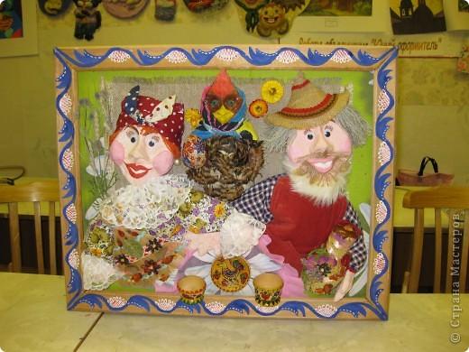 Это наши куклы на проволочном каркасе, головы вылеплены из рваного-папье-маше фото 3