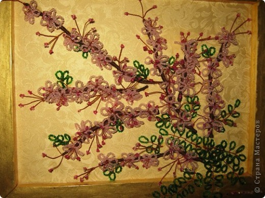 Бисероплетение Цвет яблони Бисер.