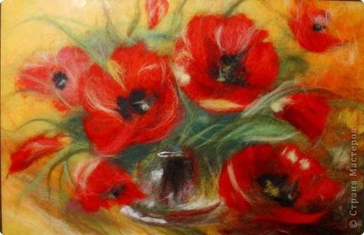 Картина панно рисунок Картины из шерсти Шерсть фото 2