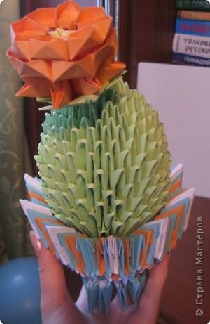 Оригами модульное: Еще один кактус.