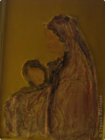 """В Италии я познакомилась с художницей Марией Вентурелли. У нее своеобразная техника рисования. хочу представить вам на обозрение некоторые картины. Эта картина называется """"Ангелы"""". На основу наклеена полиэтиленовая пленка, поверху нанесена краска фото 1"""