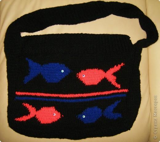 Вязание спицами: Сумка