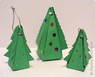 Коробочки-елочки можно использовать для упаковки нубольших подарков вытянутой формы.  фото 1