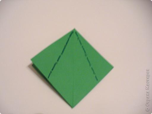 """Начало МК: http://stranamasterov.ru/node/39925 Итак. на заготовке видны линии сгиба """"гора""""-выделены синим цветом. фото 1"""