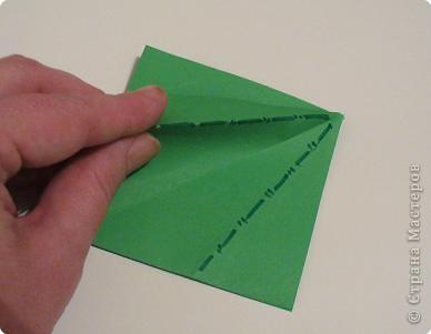"""Начало МК: http://stranamasterov.ru/node/39925 Итак. на заготовке видны линии сгиба """"гора""""-выделены синим цветом. фото 2"""
