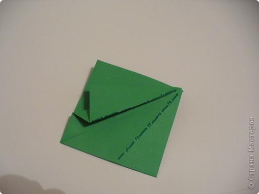 """Начало МК: http://stranamasterov.ru/node/39925 Итак. на заготовке видны линии сгиба """"гора""""-выделены синим цветом. фото 3"""