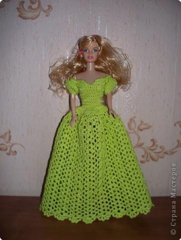 Вязание Платье для Барби