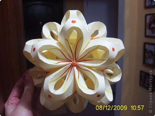 Кусудама: Цветочный шарик фото 1