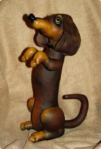 Пошита из двунитки, окрашена какао, роспись - акрил Авторская работа фото 1