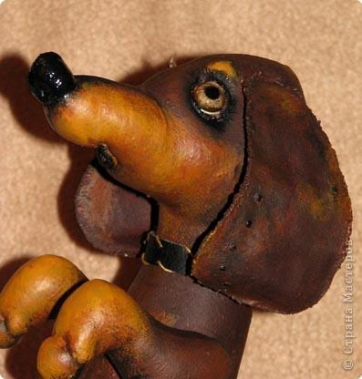 Пошита из двунитки, окрашена какао, роспись - акрил Авторская работа фото 2