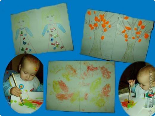 Рисуем пальчиковыми красками. фото 8