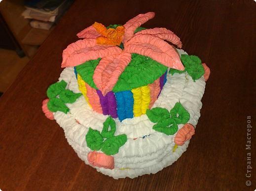 Тоже решили с сыном попробовать изготовить такой замечательный тортик