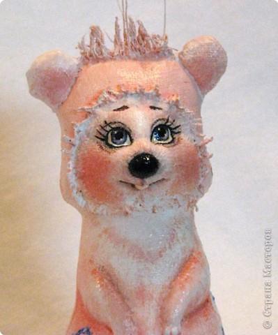 Шитьё: Розовая мышка на морозном рассвете фото 2