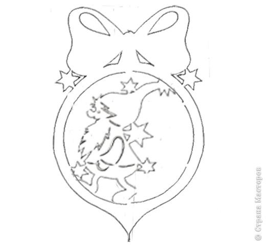 Схемы новогодних подвесок. фото 4
