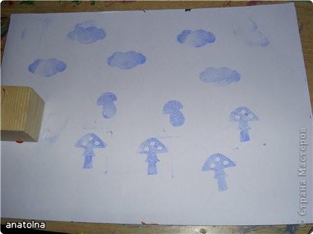 Вот такие штампики легко сделать из детских деревянных кубиков и бумаги-каучук фото 4