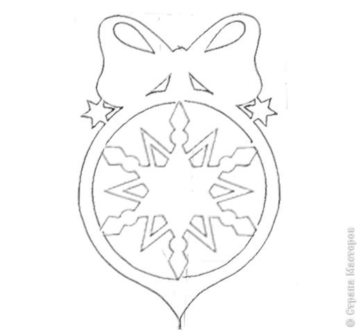 Схемы новогодних подвесок. фото 2