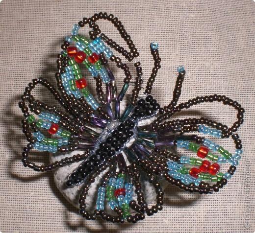 Бисероплетение: Бабочка - красавица