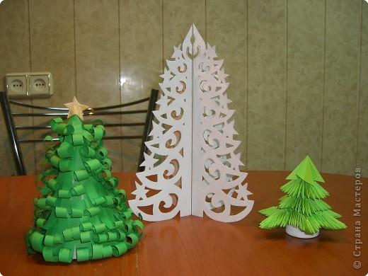 Оригами модульное: Ёлочки фото 1